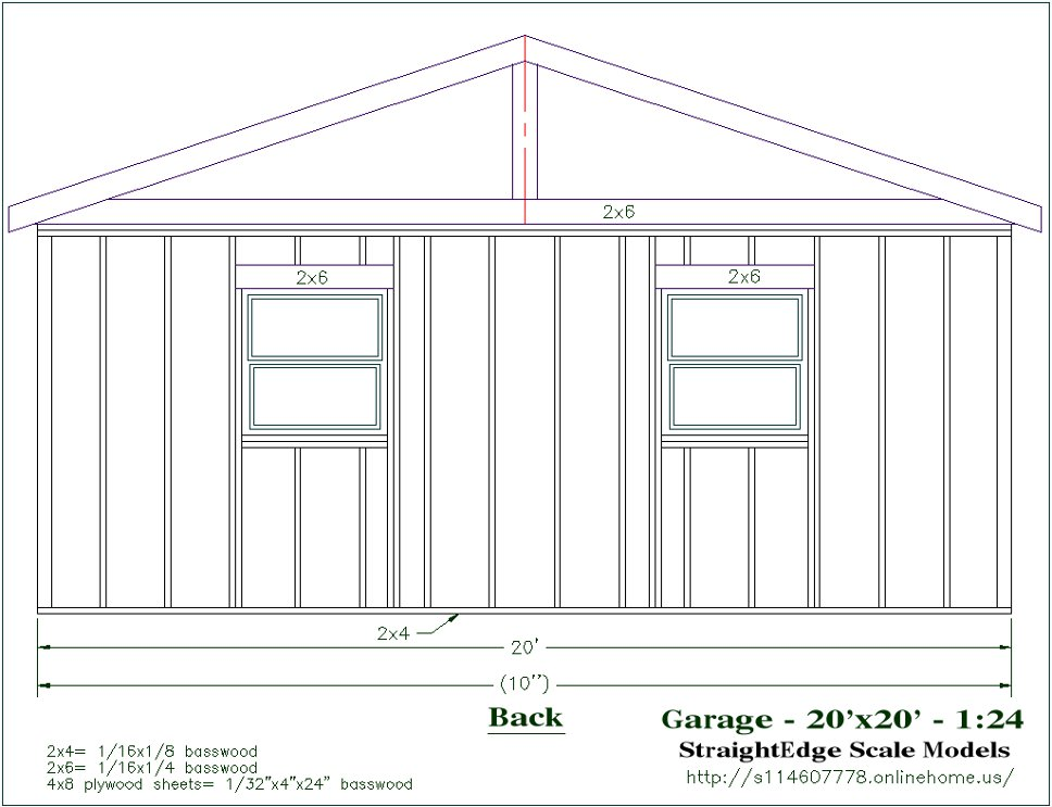 Free Plans – 24 By 24 Garage Plans